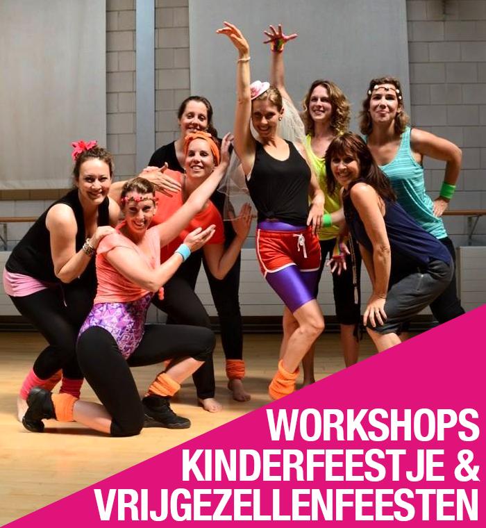 workshops, kinderfeestje vrijgezellenfeest Ghislaine Dance Company