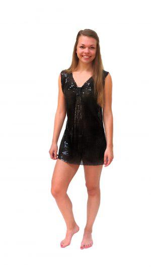 Ghislaine Dance Company Kledingverhuur - zwart glitterjurkje