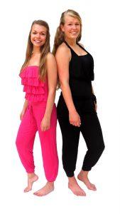 Ghislaine Dance Company Kledingverhuur - jumpsuit roze, zwart sunny