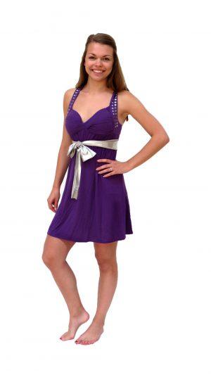 Ghislaine Dance Company - kledingverhuur - High School Musical paars jurkje