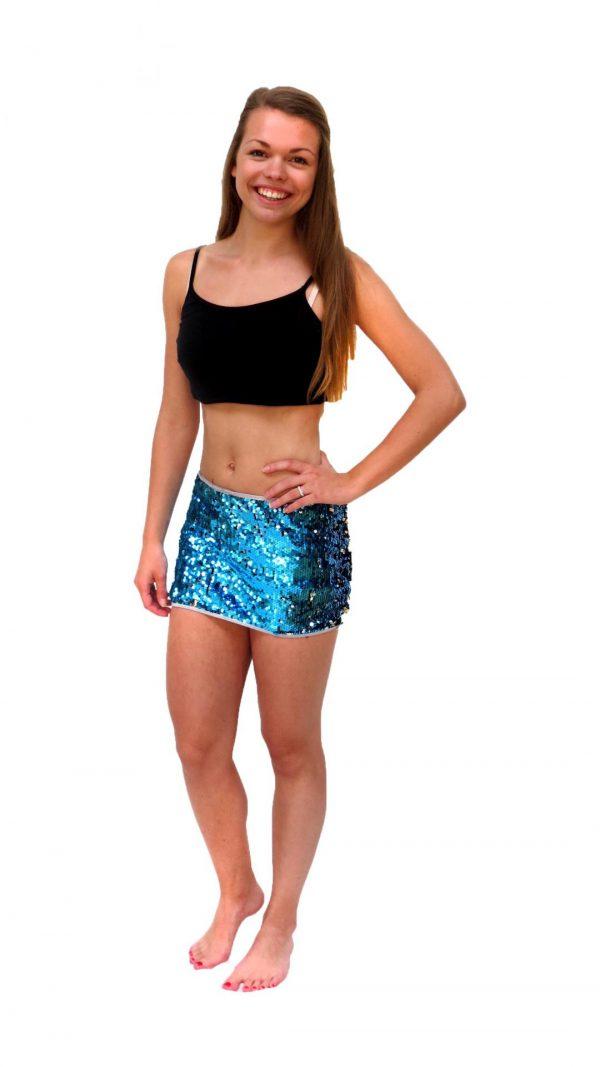 Ghislaine Dance Company - kledingverhuur - Glitter rokje + topje HNTM