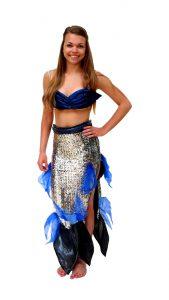 Ghislaine Dance Company - Kledingverhuur - Kleine zeemeermin zilver+blauw