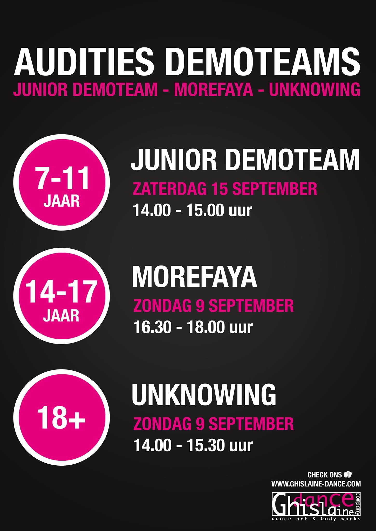 Auditie demoteams Breda Ghislaine Dance Company