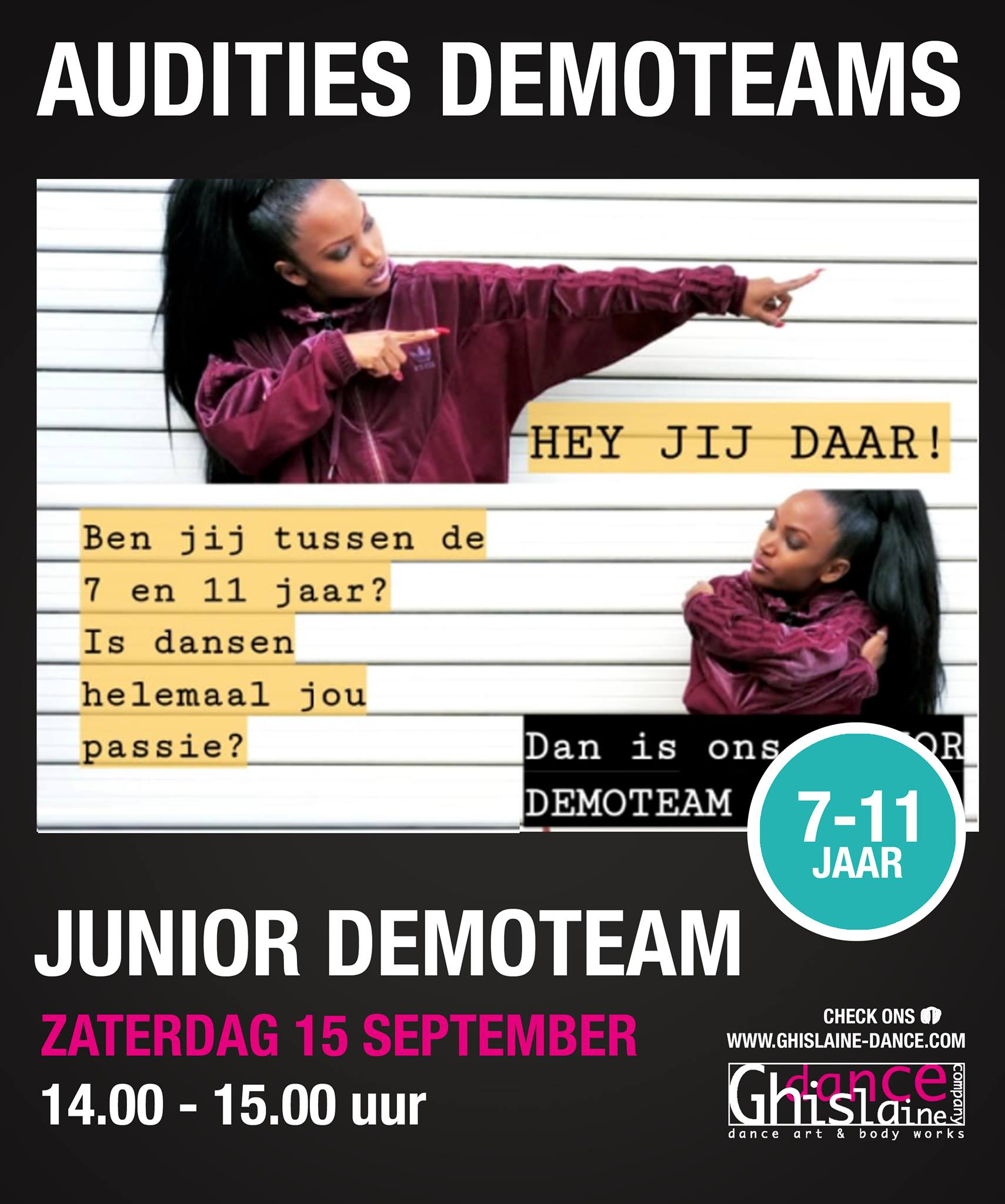 Auditie Junior demoteam Ghislaine Dance Company