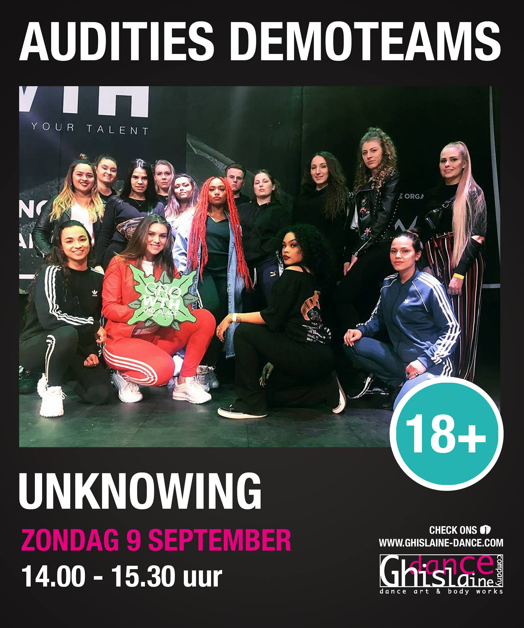 Auditie demoteam Unknowing Ghislaine Dance Company
